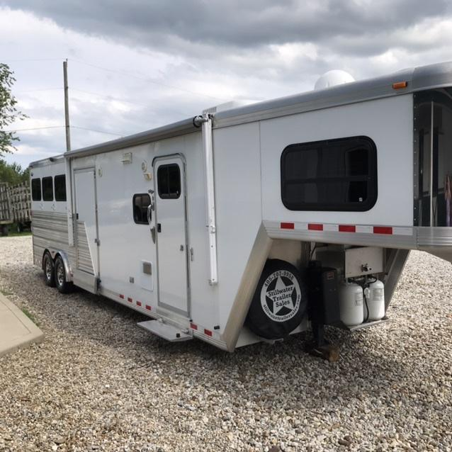 2012 Cimmaron 3 Horse Traile w/ 12 foot Living Quarters by Outlaw Conversions