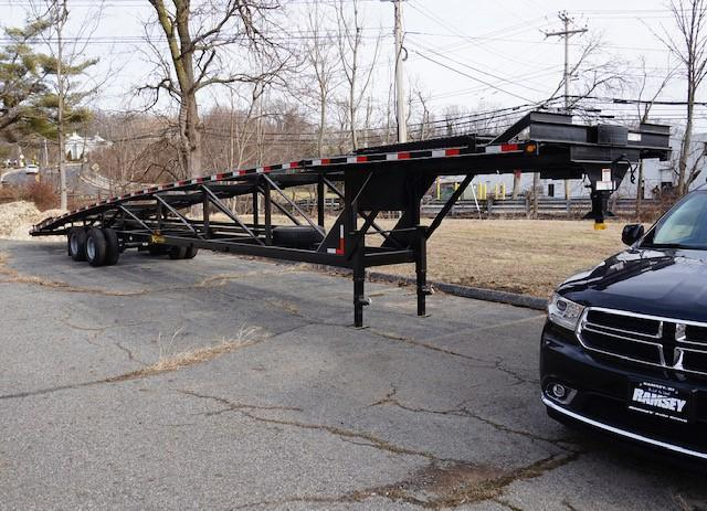 2017 Kaufman 50' + 6' Tandem Dual Wedge Car Trailer