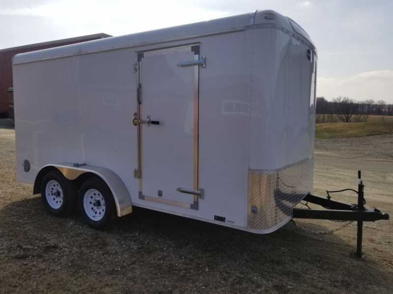 "2019 United Trailers ULH 7' x 14' x 78"" Round Nose Enclosed Cargo Trailer"