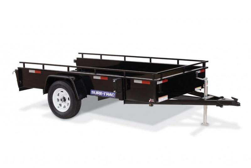2020 Sure-Trac 5 x 10 Steel High Side Utility Trailer