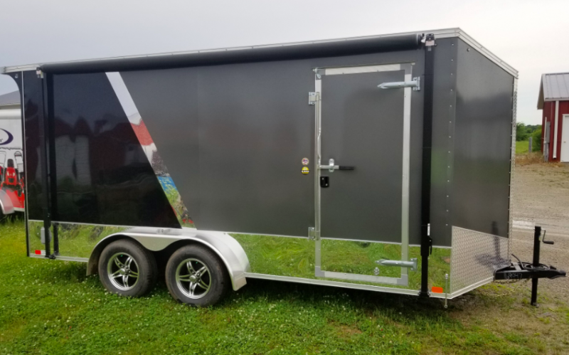 "2019 United Trailers XLMTV Wedge 7' x 16' x 84"" Enclosed Cargo Trailer"