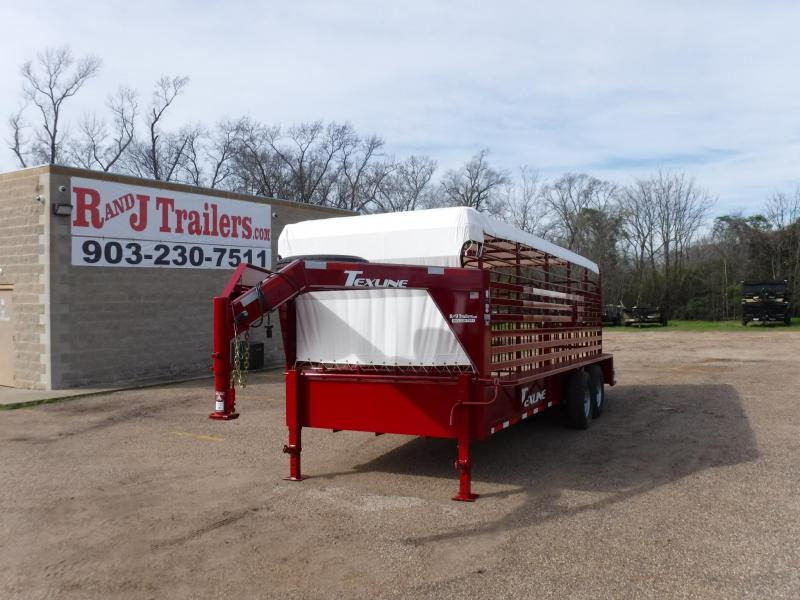 2019 TexLine 80 x 20 Cattle Stock / Stock Combo Trailer
