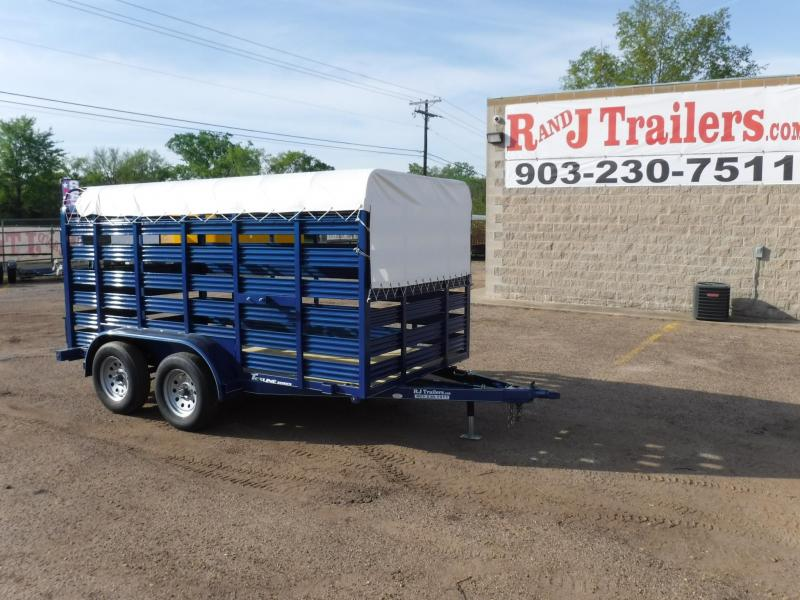 2019 TexLine 6 x 12 Mini Stock Livestock Trailer