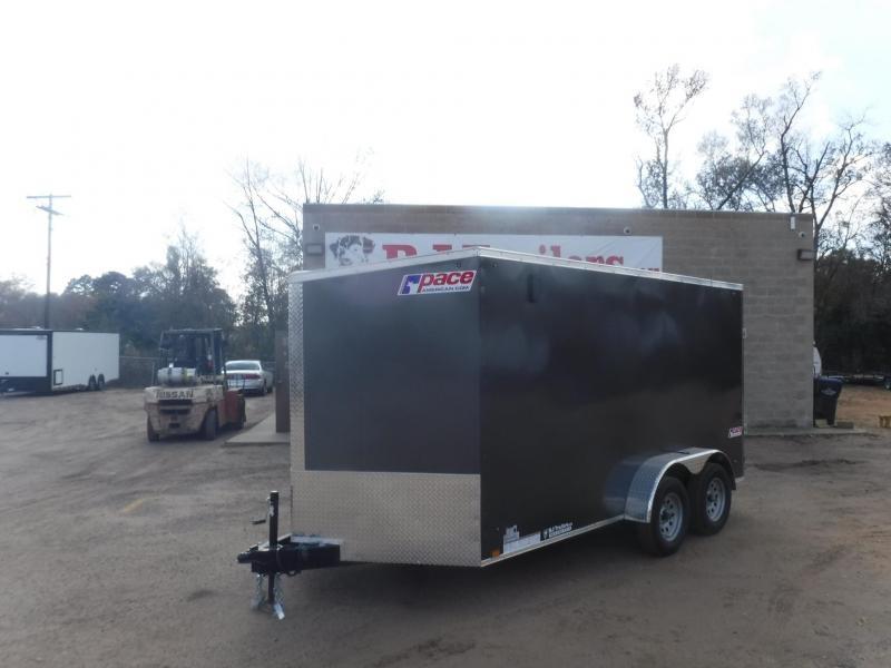 2020 Pace American 7 x 14 Ele Slant V-Nose Enclosed Cargo Trailer