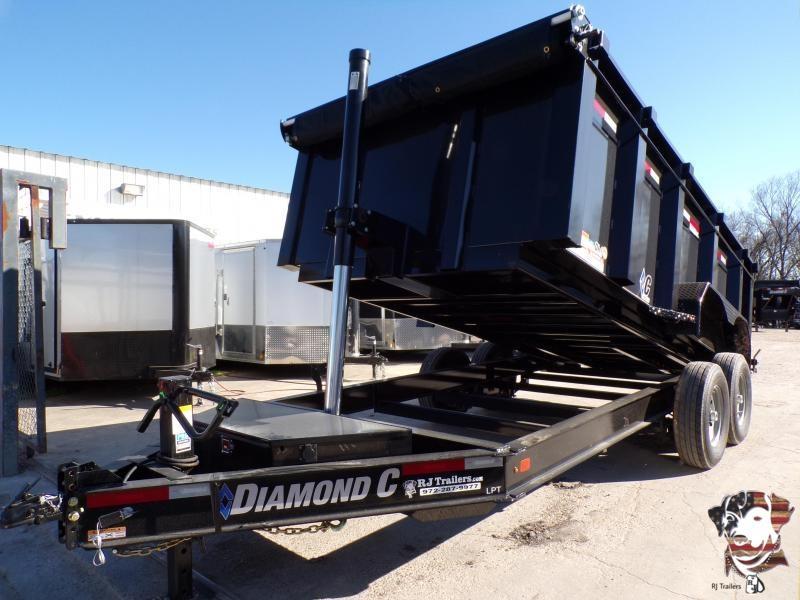 2020 Diamond C Trailers 82 x 14 LPT Telescopic Dump Trailer