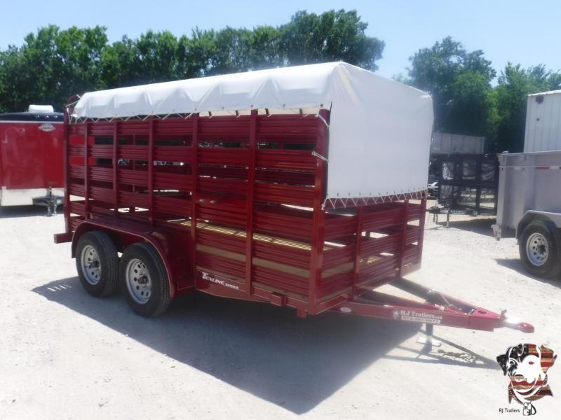 2019 TexLine 6 x 12 Mini Stock Livestock Trailer