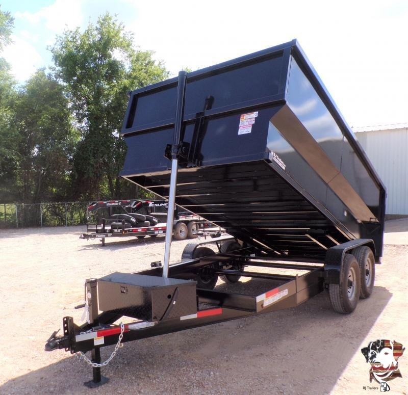 2020 Texas Pride Trailers 84 x 16 BumperPull Telescopic Dump Trailer