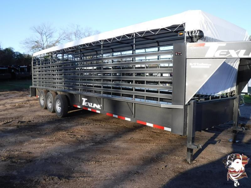 2019 TexLine 28' Cattle Stock / Stock Combo Trailer