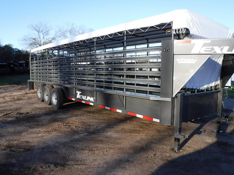 2019 TexLine 28' Cattle Utility Trailer