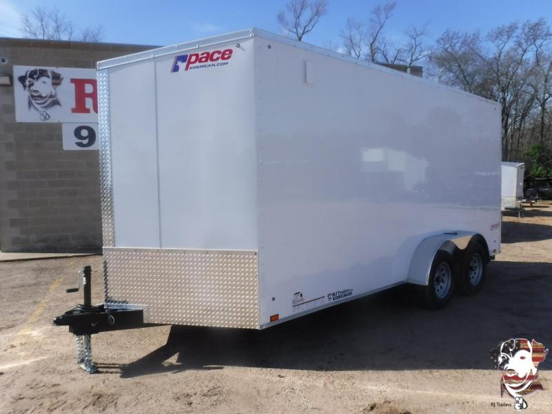 2020 Pace American 7 x 16 Journey Slant V-Nose Enclosed Cargo Trailer