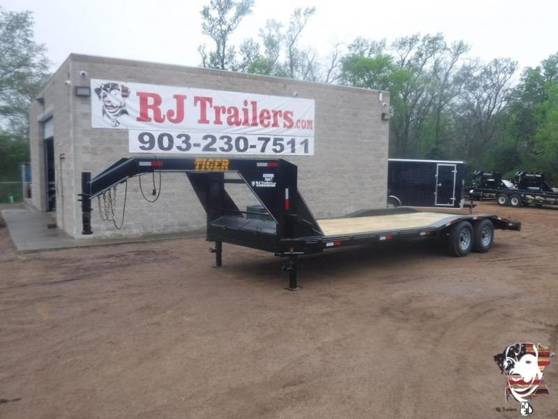 2020 Tiger 102x24 Gooseneck Equipment Trailer