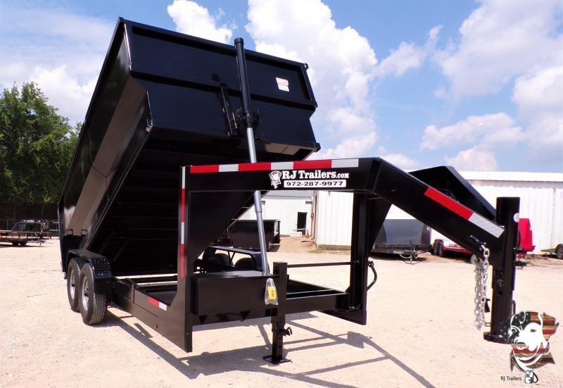 2020 Texas Pride Trailers 84 x 14 Gooseneck Telescopic Dump Trailer