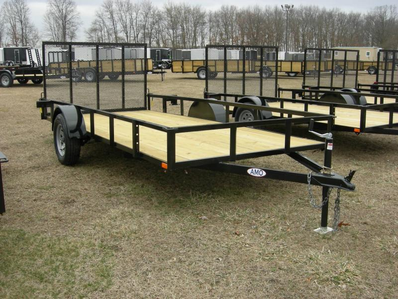 2020 American Manufacturing Operations (AMO) US76x14LS Utility Trailer