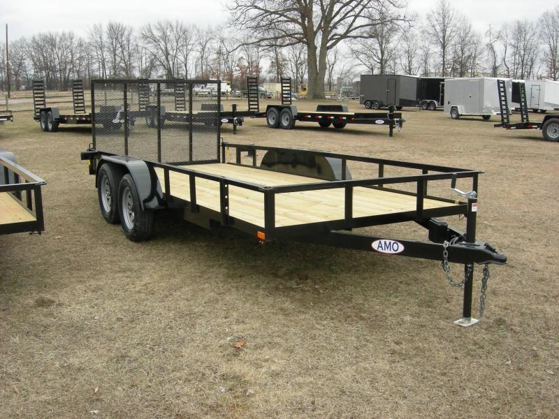 2020 American Manufacturing Operations (AMO) UT82x16 Landscape Equipment Trailer