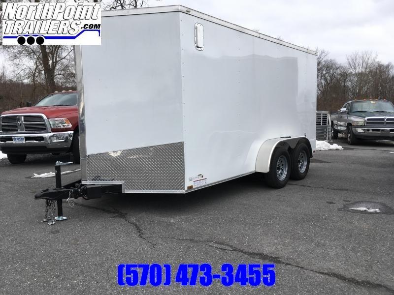 "2020 Spartan SP714TA Cargo Trailer - White - HD Rear Doors - 6' 6"" Interior Height"