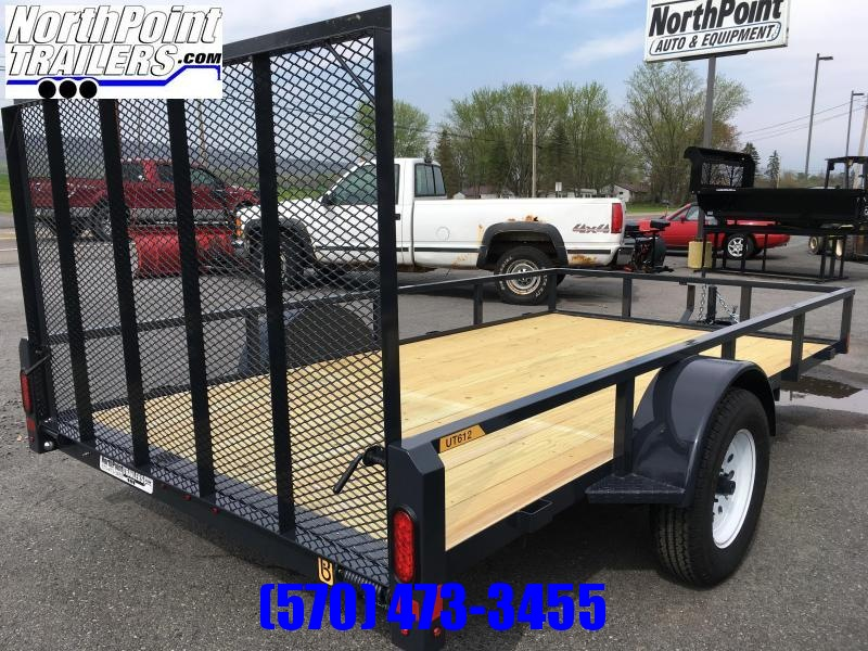 2020 Belmont Machine UT612TT **CHARCOAL** Utility Trailer