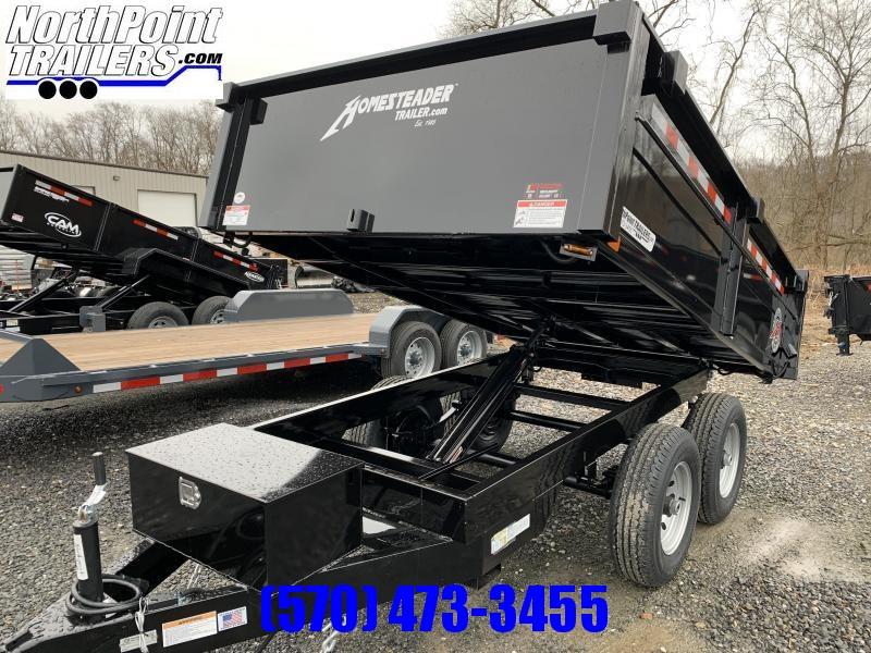 2020 Homesteader 6x10 Deckover Dump w. Barn Doors - 7k GVWR - 7K GVWR