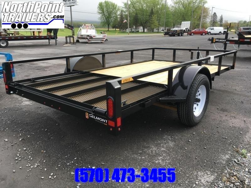 2020 Belmont Machine UT612TT **CHARCOAL** Utility Trailer