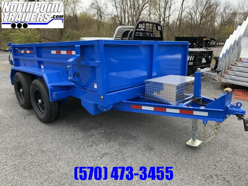 2020 CAM 6X10 DUMP TRAILER - BLUE - With Ramps