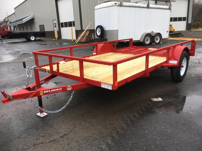 2018 Belmont Machine UT612TT **RED** Utility Trailer