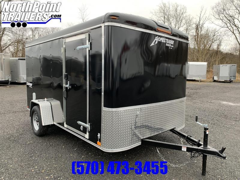 2020 Homesteader 7x12 Challenger Enclosed Trailer - Black - Ramp Door