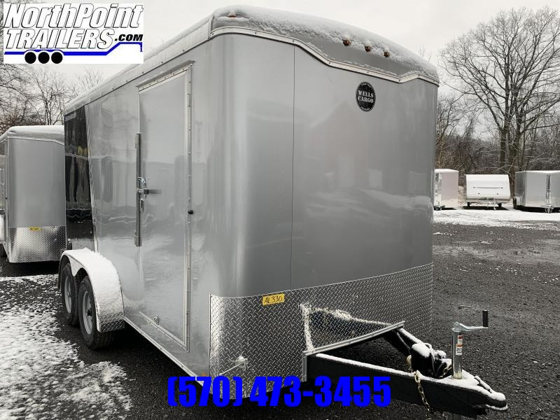 2020 Wells Cargo 7x14 Roadforce Cargo Trailer - 7' Interior - Black/Silver Two-Tone