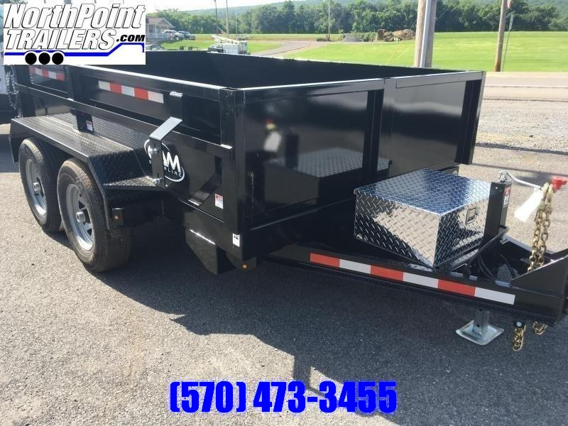 "2020 CAM 72"" x 10' Dump Trailer - BLACK"