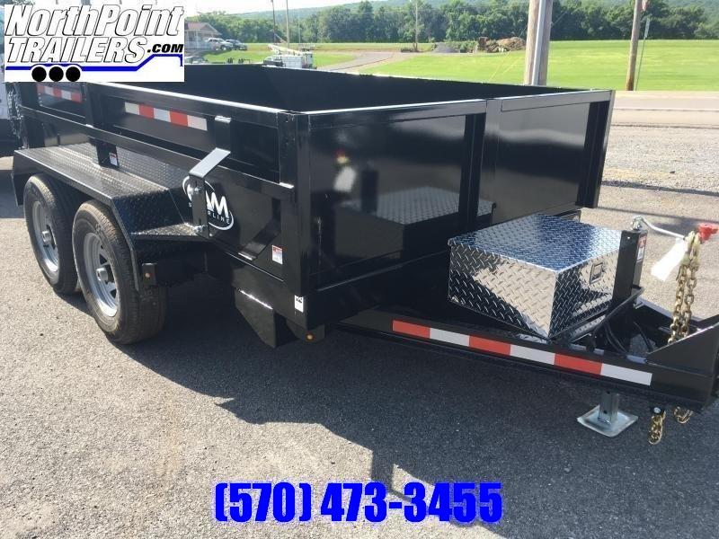 2020 CAM Superline 6 x 10' Dump Trailer - BLACK