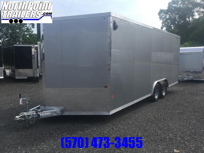 "2019 CargoPro Trailers C8x20S Cargo Trailer - Silver - 78"" Rear Door Opening"