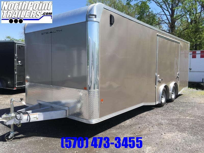 2019 CargoPro Trailers C8x24SCH Enclosed Car Trailer - ELITE ESCAPE DOOR - SPREAD AXLE - PEWTER METALLIC