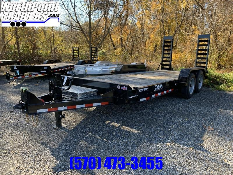 2020 Cam 18'  Equipment Trailer - 18,400 GVWR - 8K Oil Bath Axles