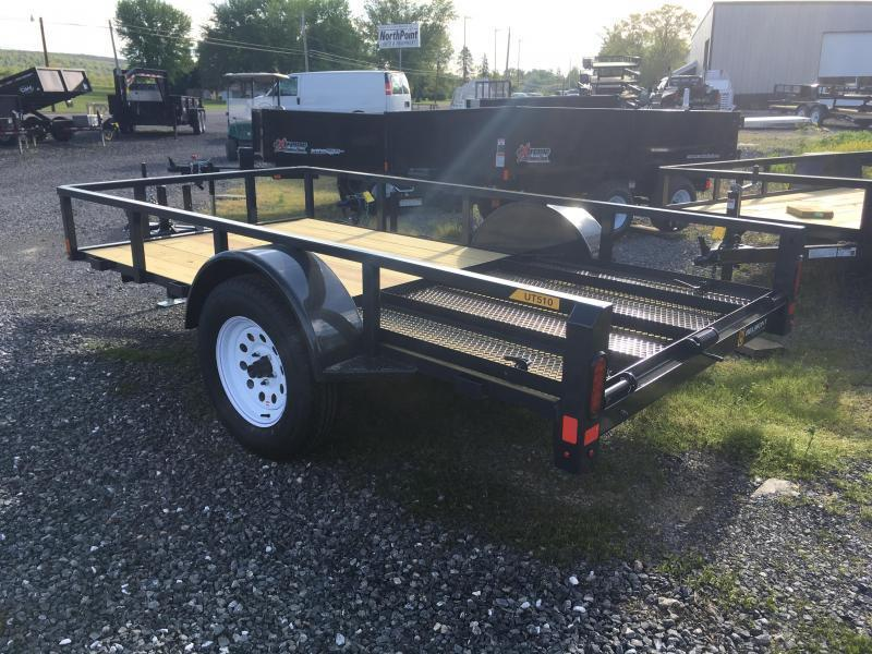 2019 Belmont Machine UT510TT Utility Trailer - Charcoal