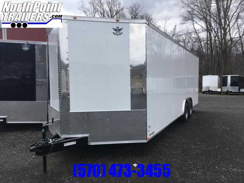 2019 Empire Cargo 8.5x24TA - Enclosed Car Trailer - White