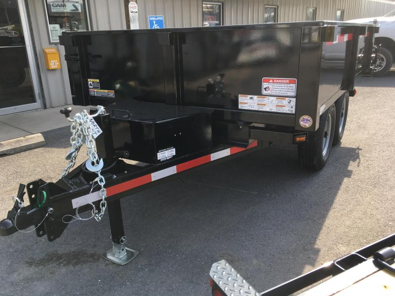 2019 Belmont Machine DT610DO-10K Deckover Dump Trailer - Fold Down Sides w/ Barn Doors - Black