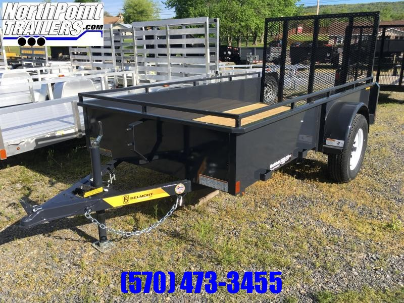 2020 Belmont Machine UT510SS Solid Side Utility Trailer **CHARCOAL**