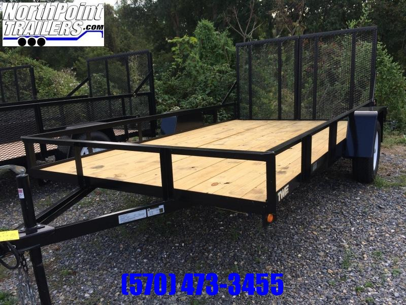 2019 TWF Mfg 102x12 Split Gate Utility Trailer