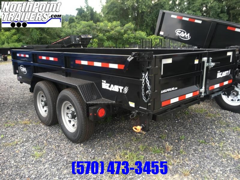 2020 CAM 7x14 Heavy Duty Commerical Dump Trailer - 16,100 GVWR