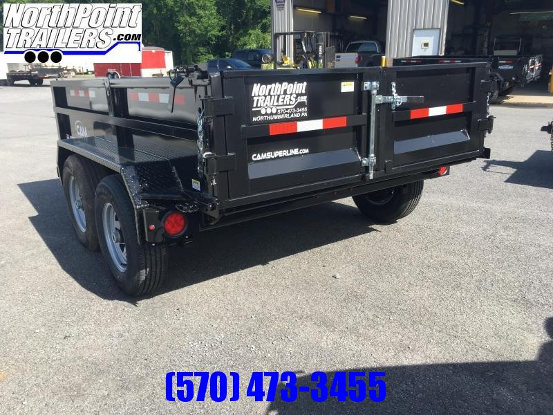 2020 CAM 6X10 DUMP TRAILER - BLACK - With Ramps
