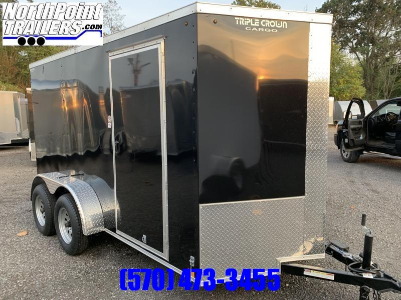 2020 Triple Crown Trailers 6X12TA Enclosed Trailer - White