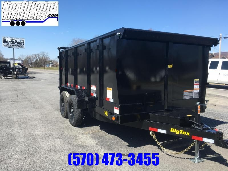 """2019 Big Tex Trailers 83"""" x 14' - 4' High Sides - Slide In Ramps - Spare Mount - Tarp Kit!!!"""