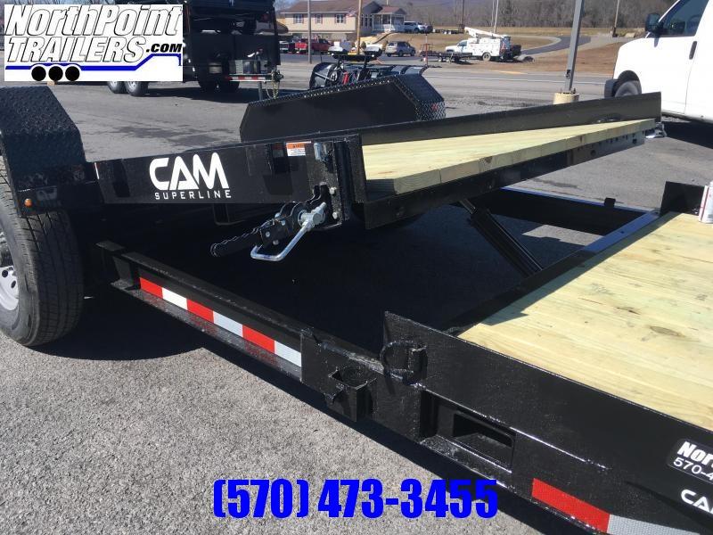 2019 Cam 19' Split Deck Tilt Trailer - 15' Stationary - 4' Tilt