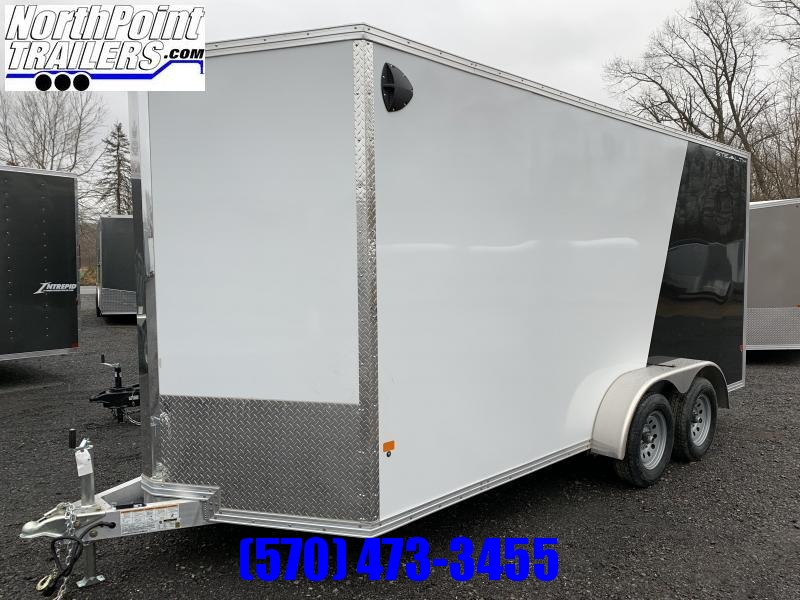 2018 CargoPro Stealth C7x16S-IF Cargo Trailer - White-Black Two-tone