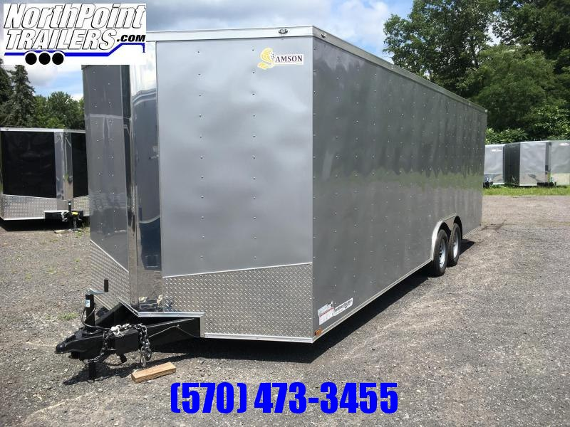 2018 Samson SP8.5x24 Enclosed Trailer -  White