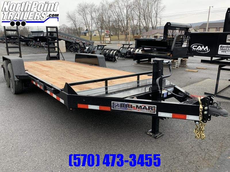 2020 Bri-Mar 18' - 16000# GVWR Equipment Trailer - Black - EH18-16-HD