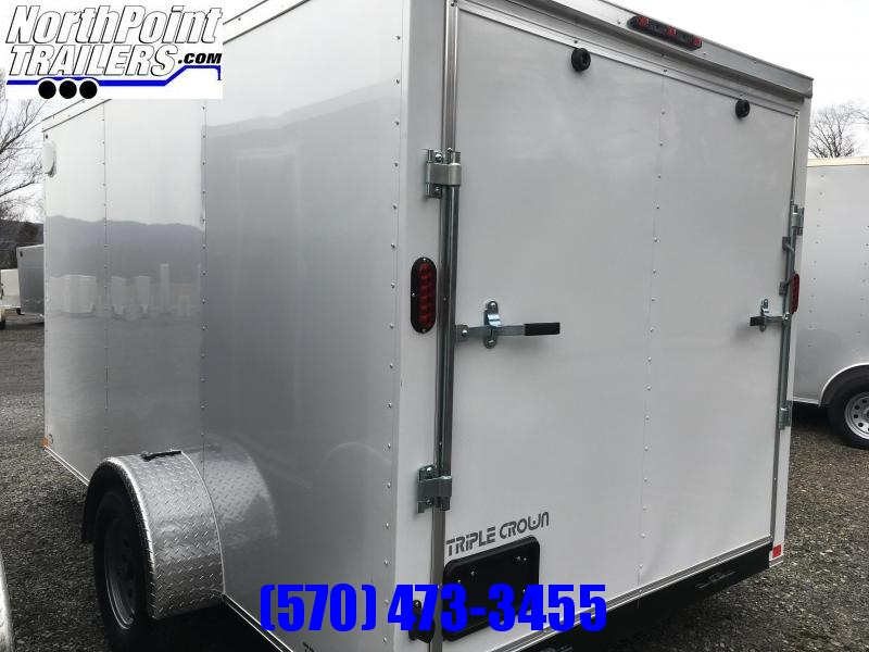 2019 Triple Crown Trailers 6X12SA Enclosed Trailer - White