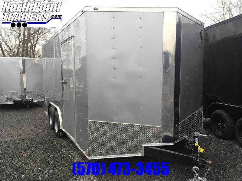 "2019 Samson SP8.5x16 Enclosed Trailer - Silver - 84"" Interior"