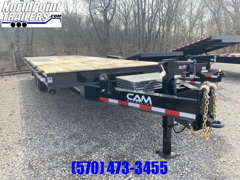 2020 Cam Superline 24' - Deckover Split Tilt Equipment Trailer - 8K Oil Bath Axles - 18400# GVWR
