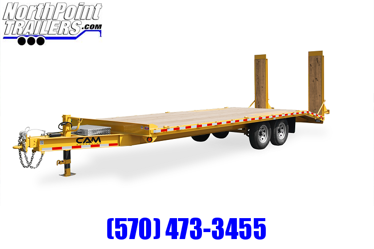 2020 Cam Superline 7CAM816+4 - 20' Deckover Trailer - 16100# GVWR - Black