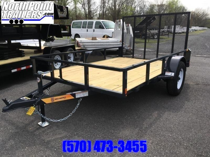 2020 Belmont Machine UT610TT Utility Trailer - Charcoal