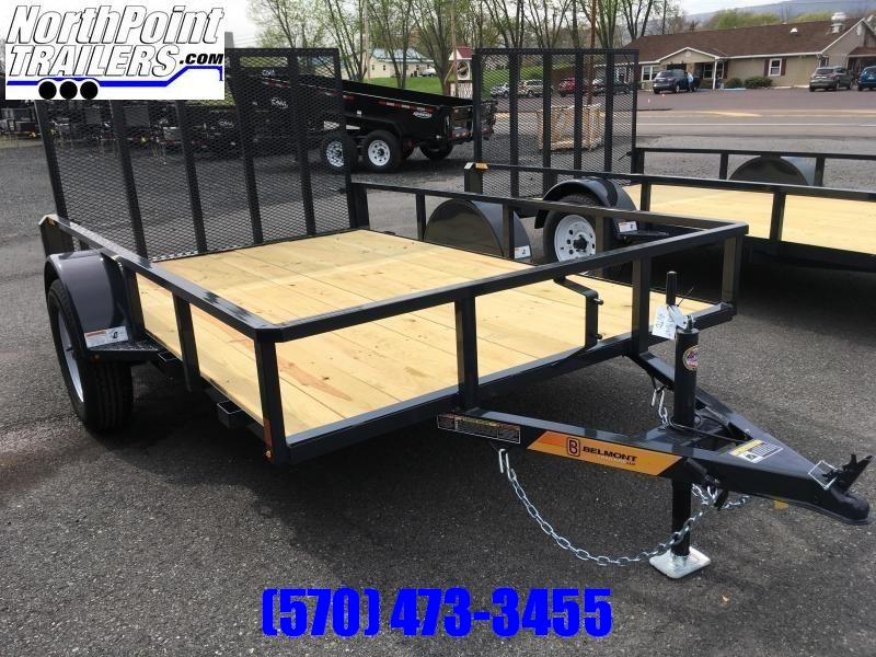 2020 Belmont Machine UT610TT Utility Trailer - Charcoal